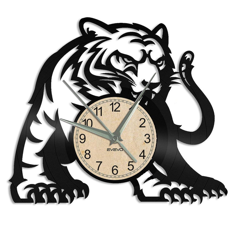 EVEVO Tigre Reloj De Pared Vintage Accesorios De Decoración ...
