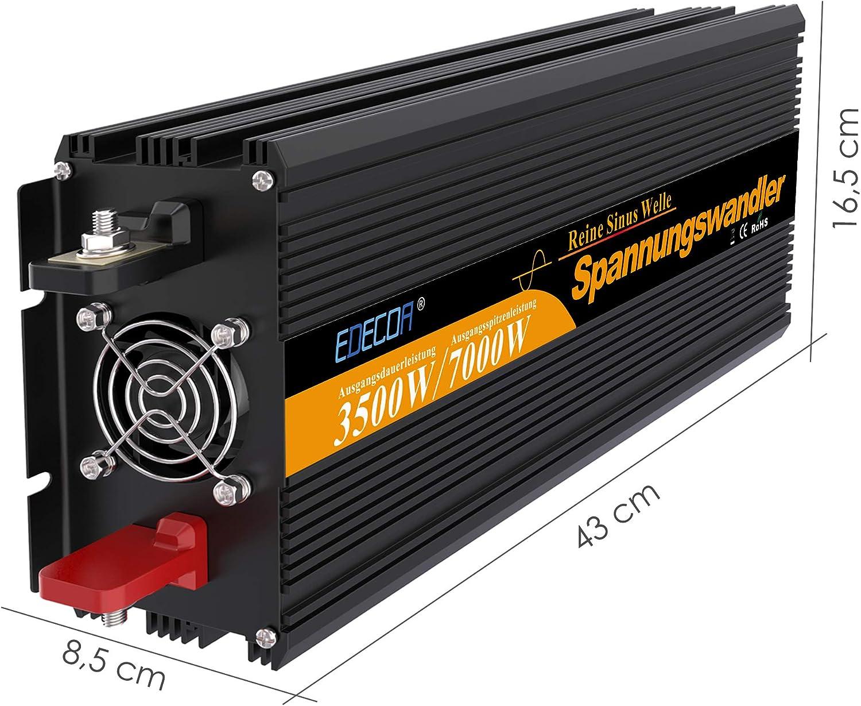 Spannungswandler 24v 230v Wechselrichter Reiner Sinus 3500w Mit Fernbedienung Spannungswandler Reiner Sinus 24v 230v Auto