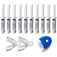 10 syringes of Non-peroxide teeth whitening gel and
