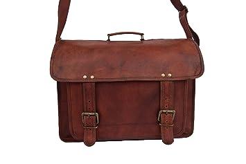 Men/'s Genuine Leather Vintage Laptop Messenger Briefcase Bag Satchel Distressed