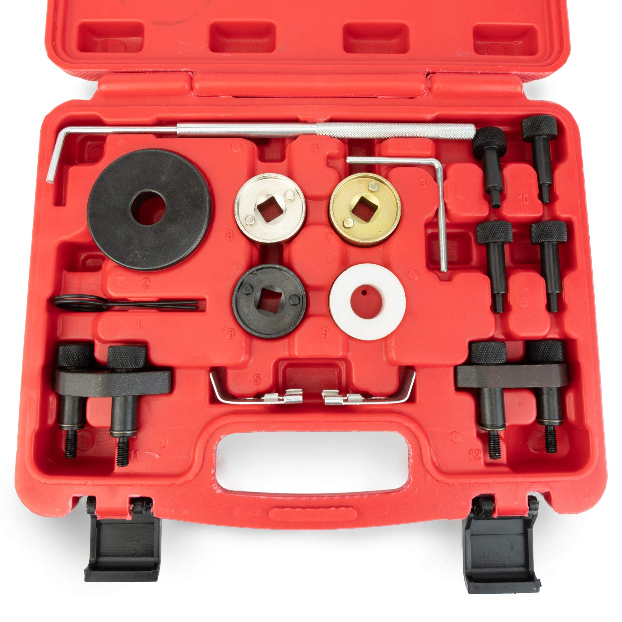 Replacement VAG Volkswagen Audi Timing Tool Kit - 1.8L, 2.0L R4 16V Turbo TSI, TSFI EA888 Engine - Replaces# T10352, T10368, T40098, T40011 & More - Audi Camshaft & Crankshaft Timing Position by Delray Auto Parts (Image #4)