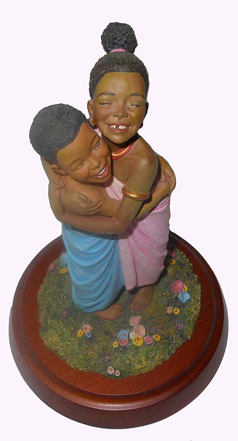 """Thomas Blackshear Forever Friends (#37051) Retired/Vintage Ebony Visions Figurine 
