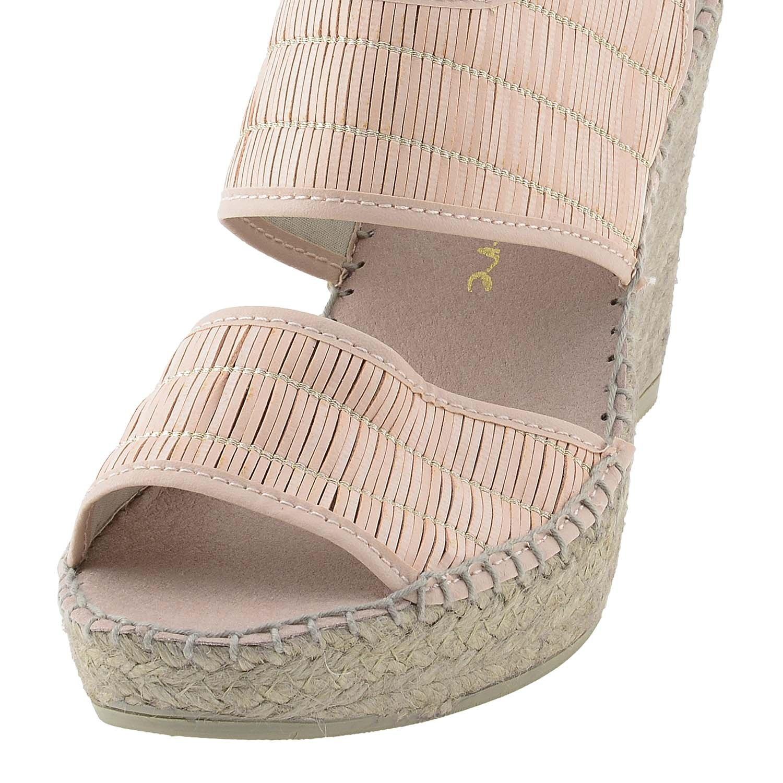 Alpargatas Piel Tacón Talla: 39 Color: Rosa: Amazon.es: Zapatos y complementos