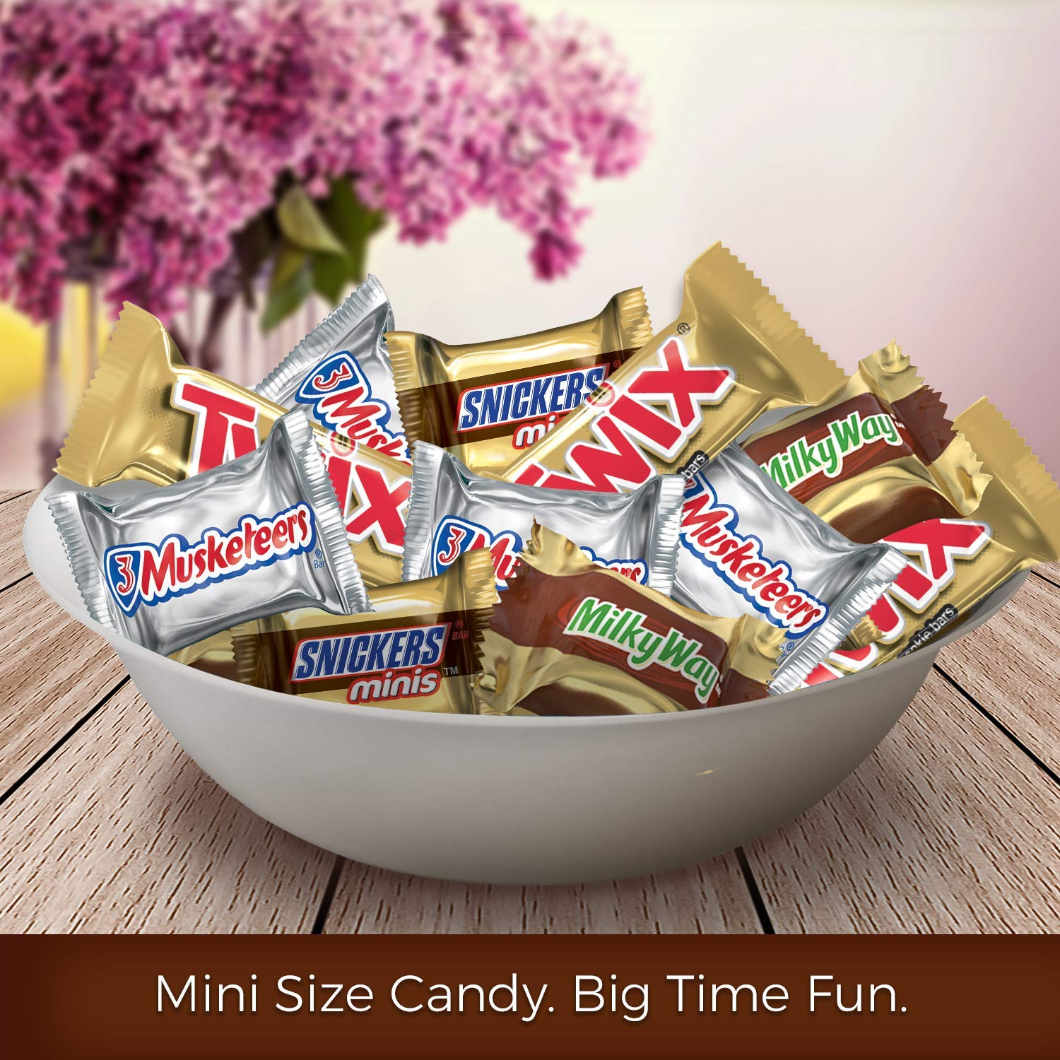 SNICKERS, TWIX, 3 MUSKETEERS & MILKY WAY Minis Size Easter Candy Variety Mix, 240 Pieces, 3 Pack