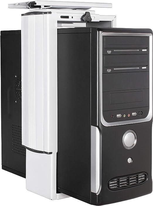FineBuy PC Halter 360° drehbar Computerhalterung Tower Halterung Tischhalterung