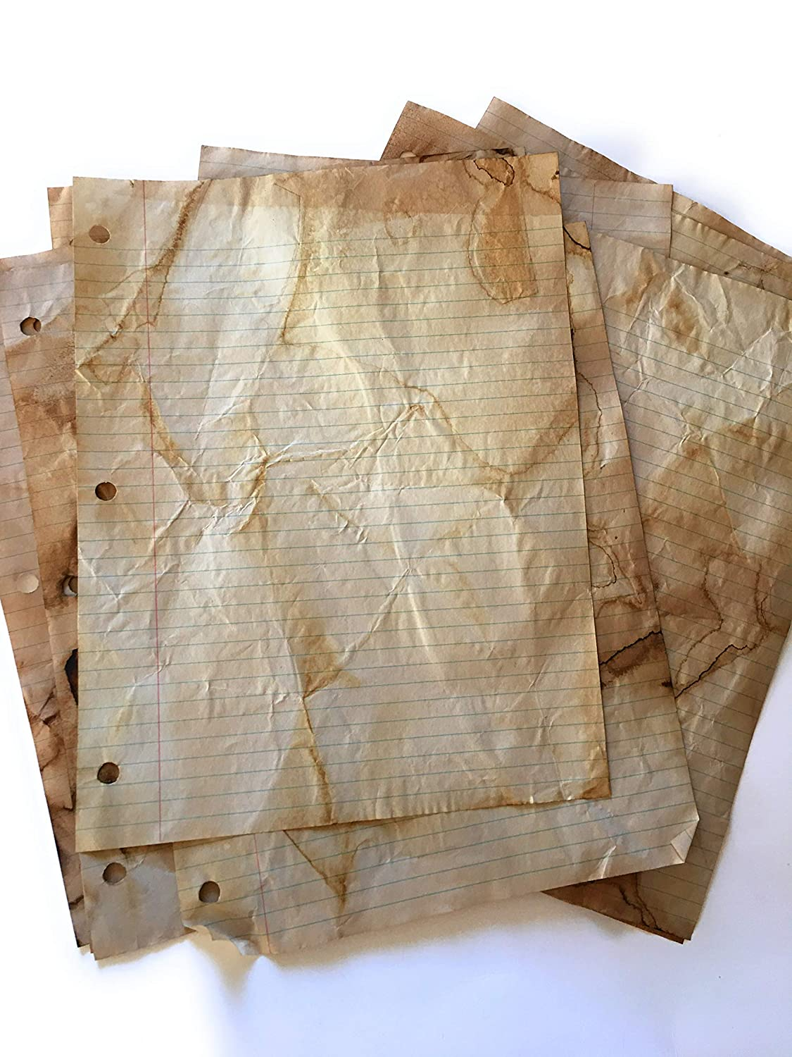 8.5 x 11 inches Crafting Perfect for Printing Invitations Certificate Copying,Weddings Old Fashion Hand dyed,Tea Stained,20 Pieces LINED Vintage Antique Design Double Sided Stationery Paper