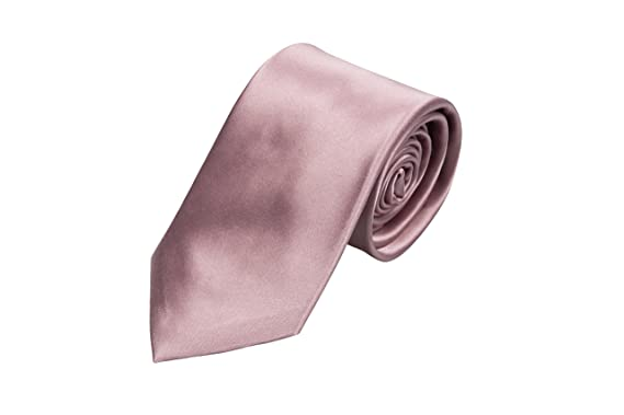 Boys tie small - Light pink interwoven with white Notch N0pJal