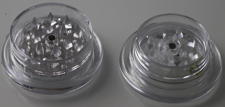 2 Part Magnetic Pocket Stash Herb Grinder Clear Poker Dice