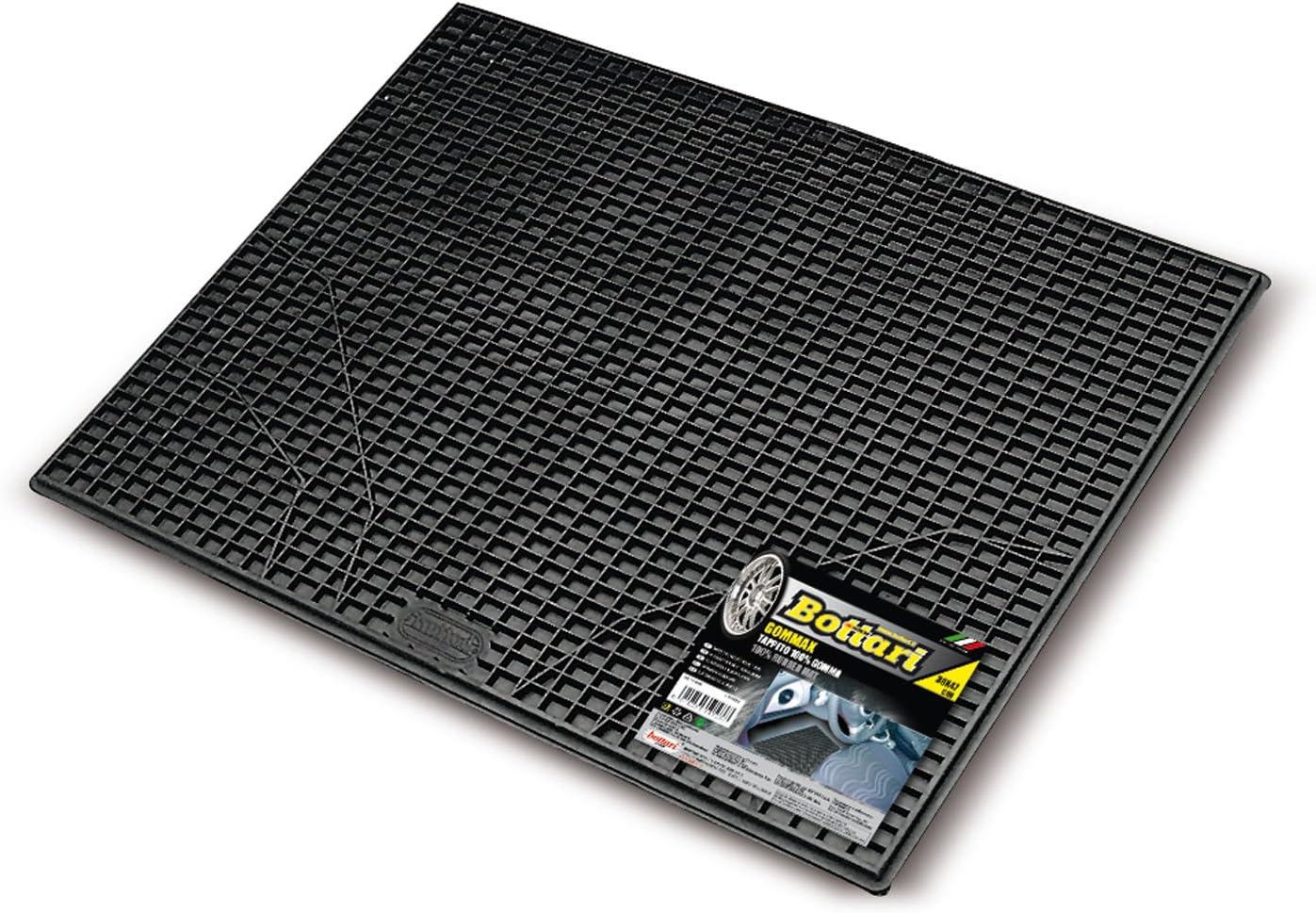 Negro-Universal Bottari 14103 Alfombrilla Protectora de Goma para Coche