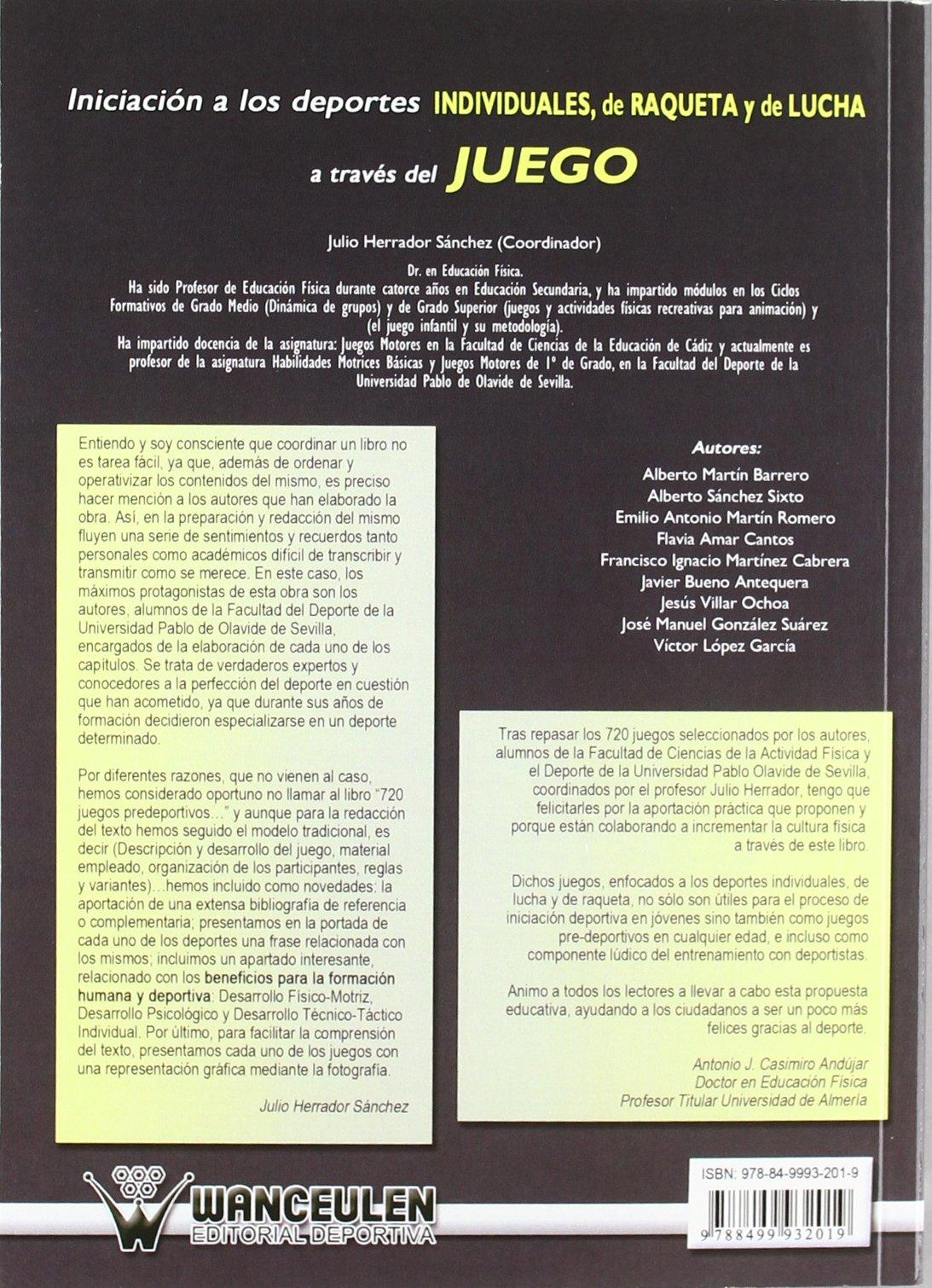 Iniciación A Los Deportes Individuales, De Raqueta Y De Lucha A Través Del Juego. Propuestas Lúdicas Predeportivas: Propuestas Lúdicas Predeportivas ...