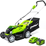 """GreenWorks MO40B410 Lawn Mower, 14"""" Battery Included"""