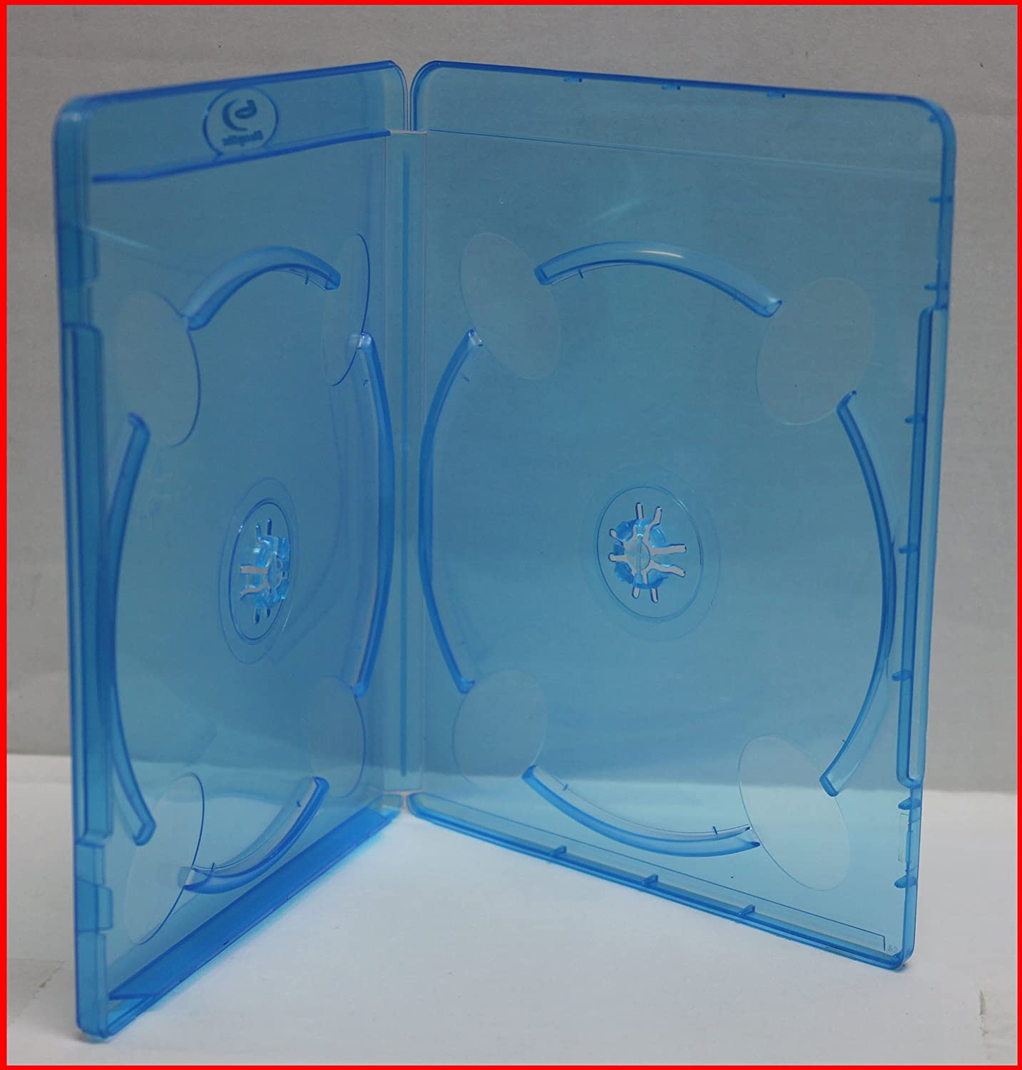 Viva Similar Quality Dual Holder Box 18 pcs//Pack 11mm MegaDisc Blu-ray Double 2 Discs Case Premium