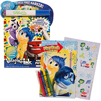 pixar inside out play set with imagine ink mess free coloring book and play pack - Imagine Ink Coloring Book
