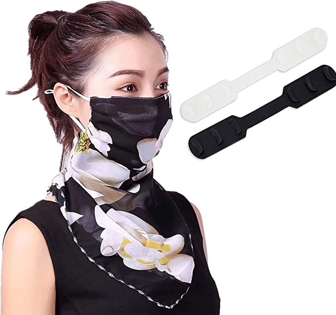 GUXIN 30PCS Face Bandanas Band Adjustable Buckle Elastic Ear Loop Strap Stretchy Cord