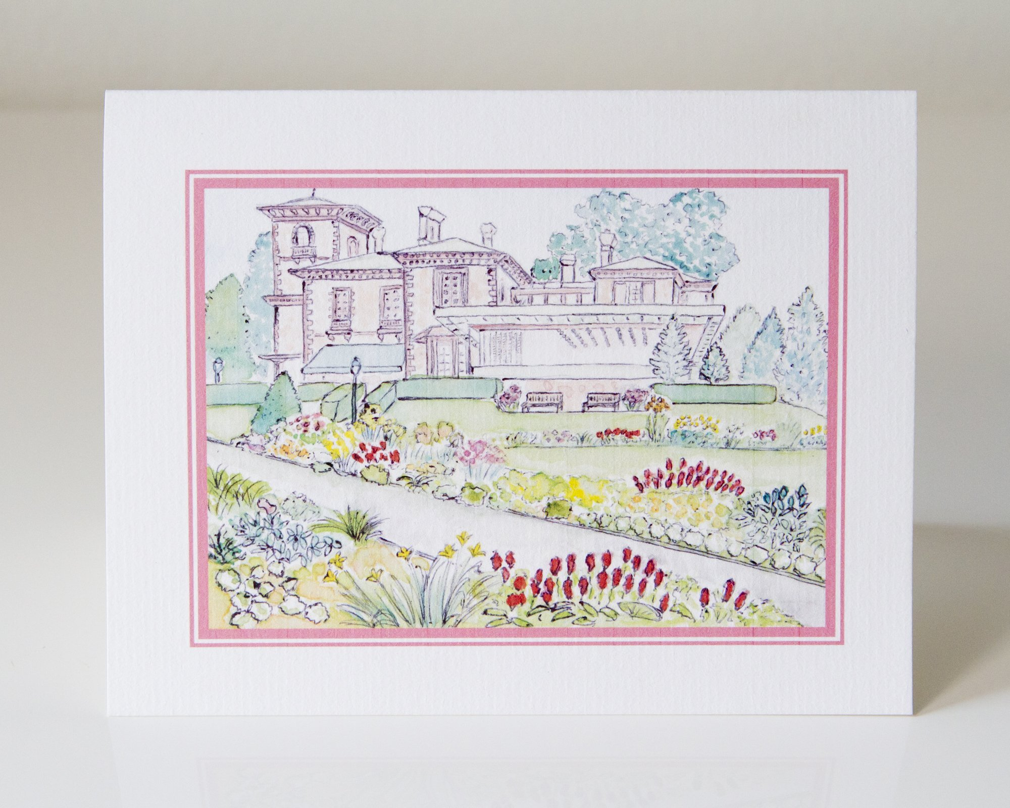 Set of 50 Prospect House and Gardens Greeting Cards by LAURA ANN