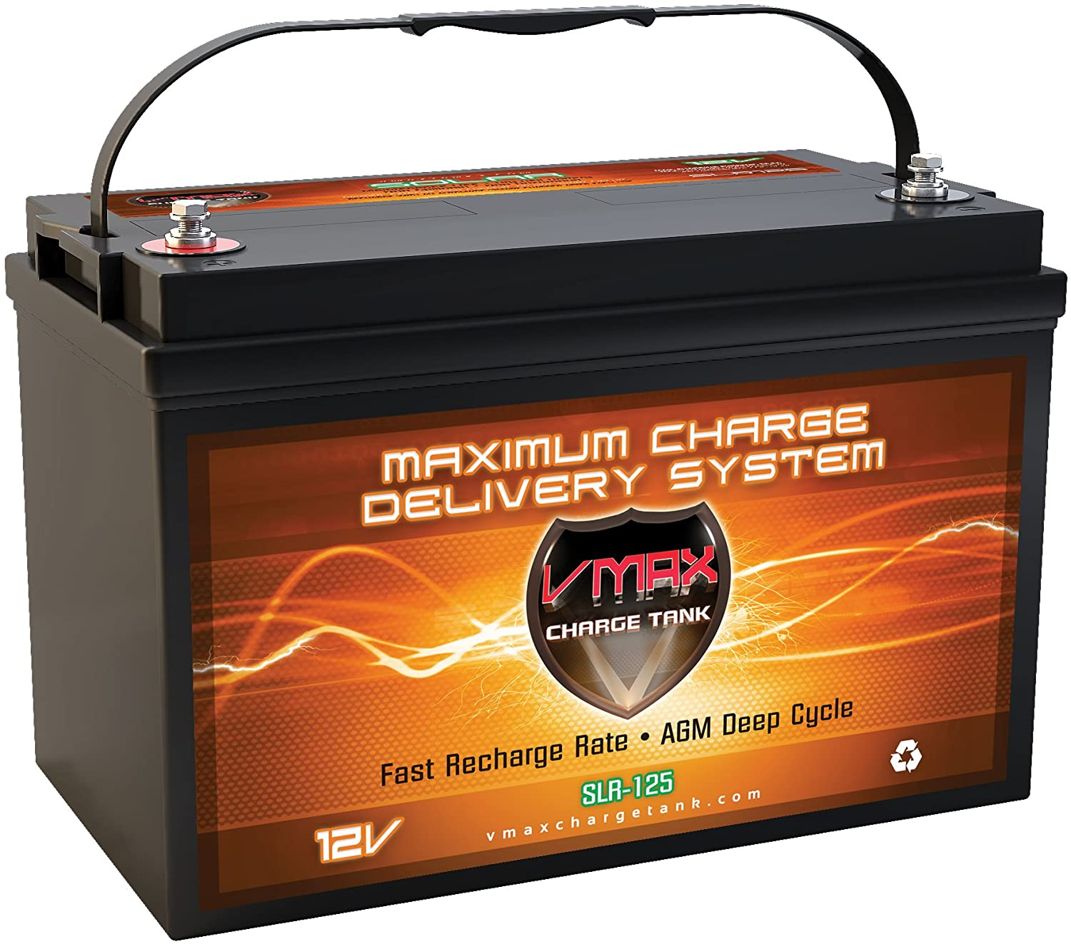 Vmaxtanks AGM 12V VMAXSLR125 RV Battery