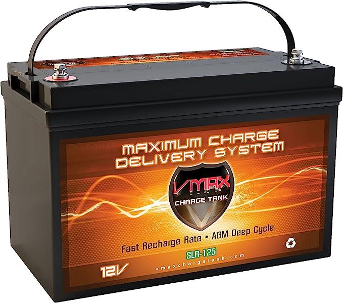 Vmaxtanks VMAXSLR125 AGM 12V 125Ah SLA Rechargeable Deep Cycle Battery