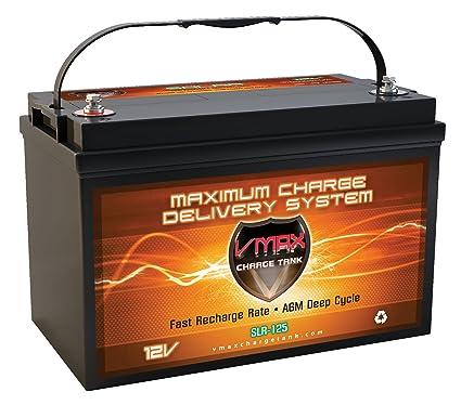 vmaxtanks slr125 agm 12v 125ah battery for solar wind power emergency  backup generator pv panel or