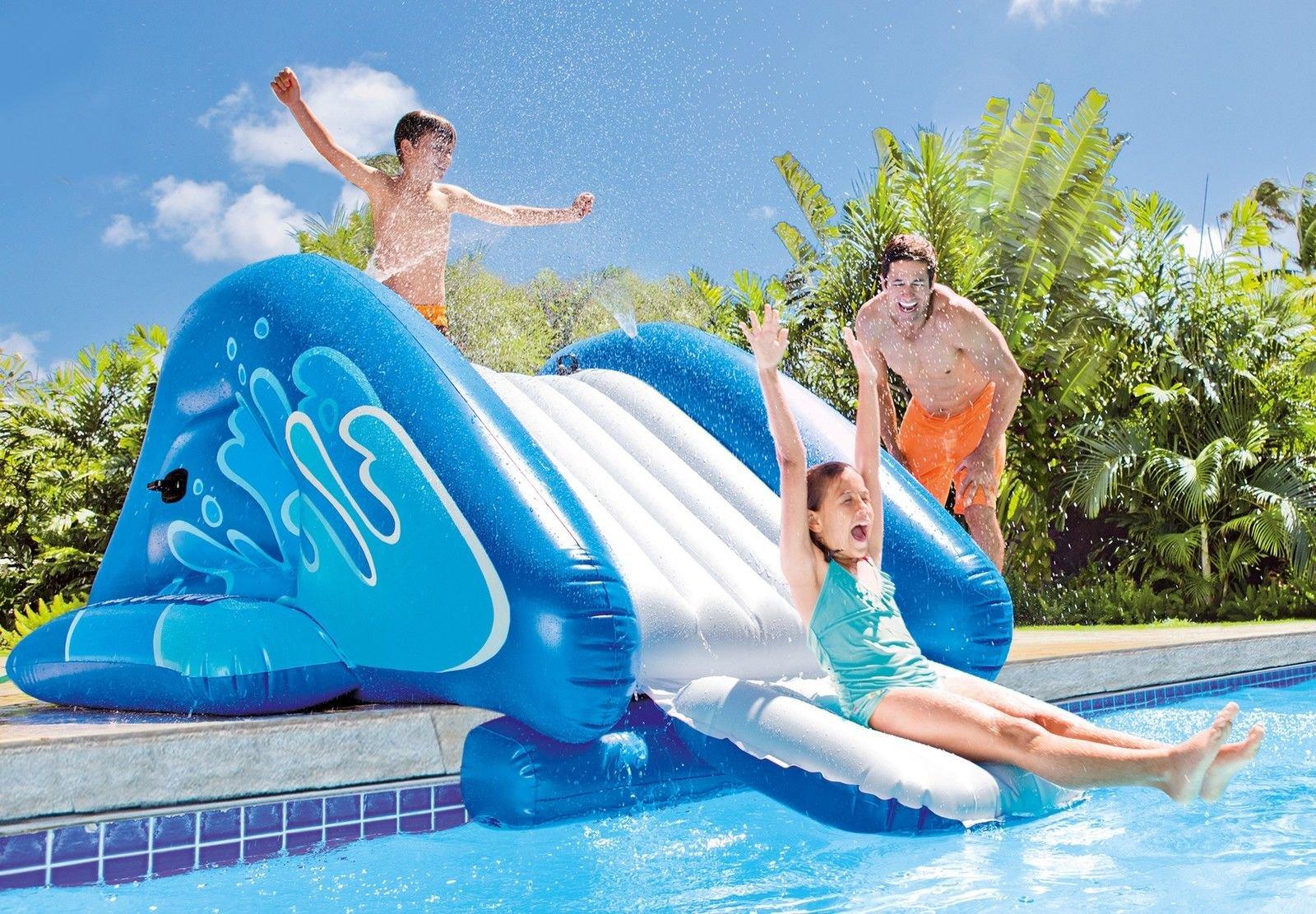 Alek...Shop Water Slide Accessory Play Swimming Pool Inflatable Splash Slide Kids Easy Fun Game Family Center Slide by Alek...Shop (Image #4)