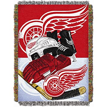 Officially Licensed NHL Detroit Red Wings Homefield Ice Advantage Awesome Red Wings Throw Blanket