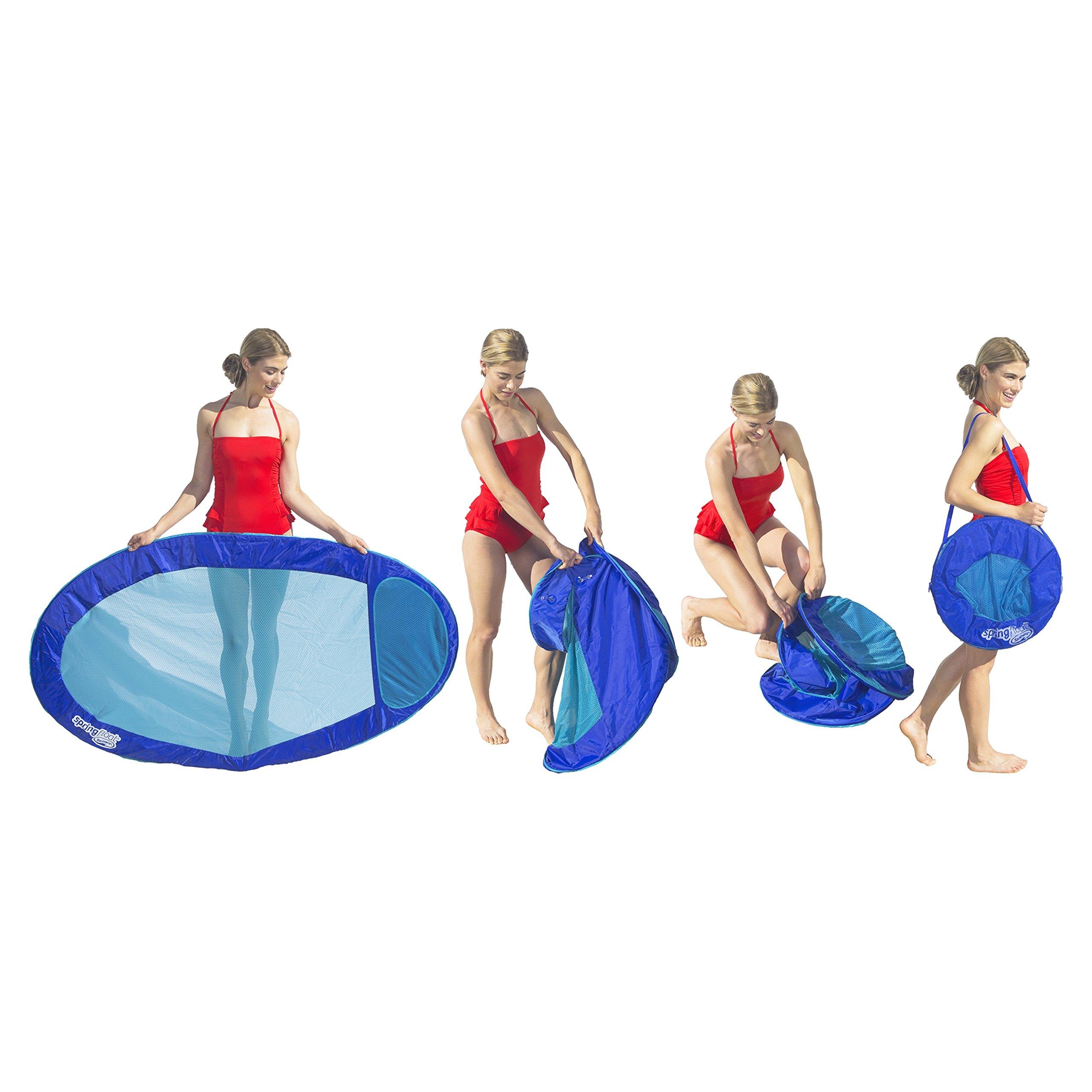 SwimWays Original Spring Float - Floating Swim Hammock for Pool or Lake - Lime/Light Blue by SwimWays (Image #4)