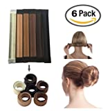 Amazon Price History for:JJMG NEW 6pcs Bun Maker DIY Women Girls Perfect Hair Bun Making Styling French Twist Donut Bun Hairstyle Tool - 6 shades: Blond, Chestnut Color to Brunette