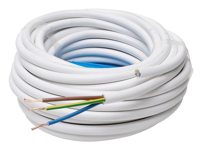 colore: Bianco Guaina H05 VV-F 3G 1.5 mm/² Kopp 151825002 25 m