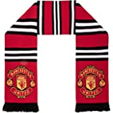 Manchester United FC Authentic EPL Stripe Scarf - UK Import, Red,white,black, 5ft