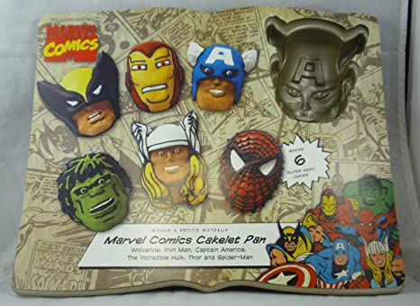 Nordic Ware cacerola Cakelet: de Marvel Comics Lobezno, Iron ...