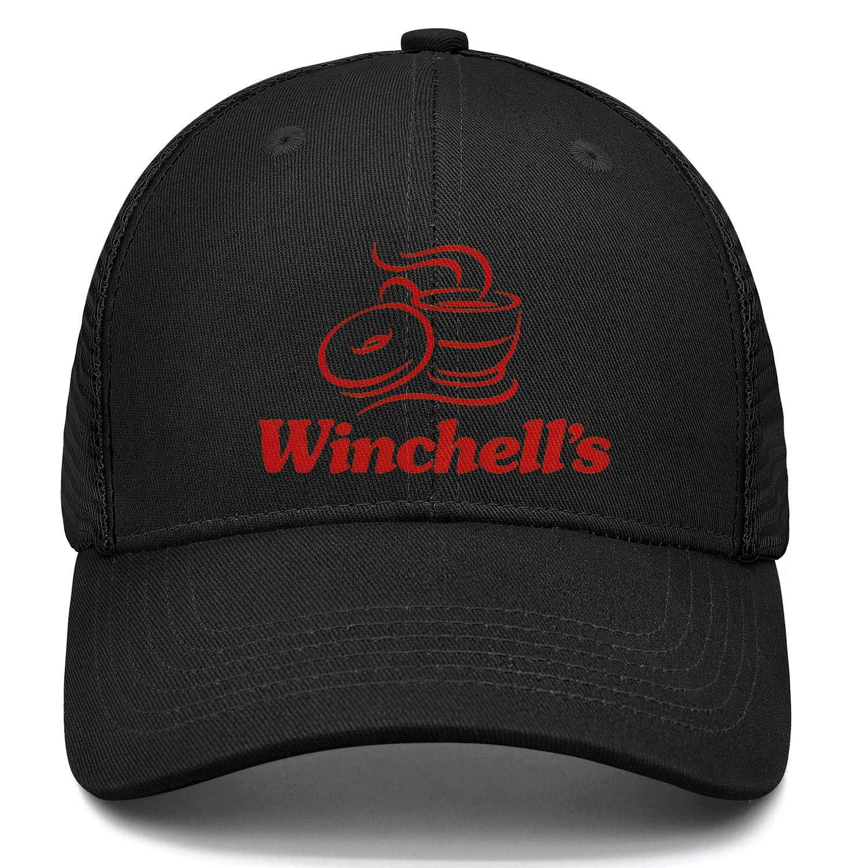 chenhou Unisex Winchells Donuts Logo Hat Adjustable Fitted Dad Baseball Cap Trucker Hat Cowboy Hat