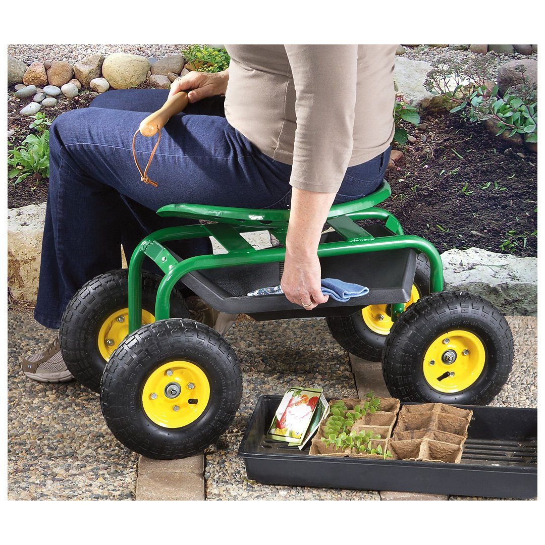 Merveilleux Amazon.com: CASTLECREEK Rolling Garden Seat With Built In Tray: Home U0026  Kitchen