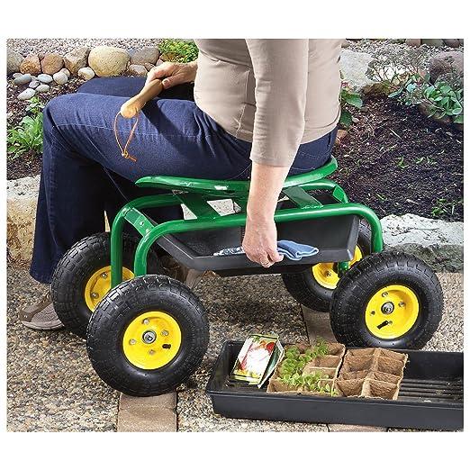 Amazon.com : CASTLECREEK Rolling Garden Seat With Built In Tray : Toilet  Seats : Garden U0026 Outdoor