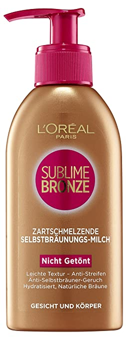 94 opinioni per L'Oréal Paris, Latte autoabbronzante Sublime Bronze, 1 x 150 ml [Versione