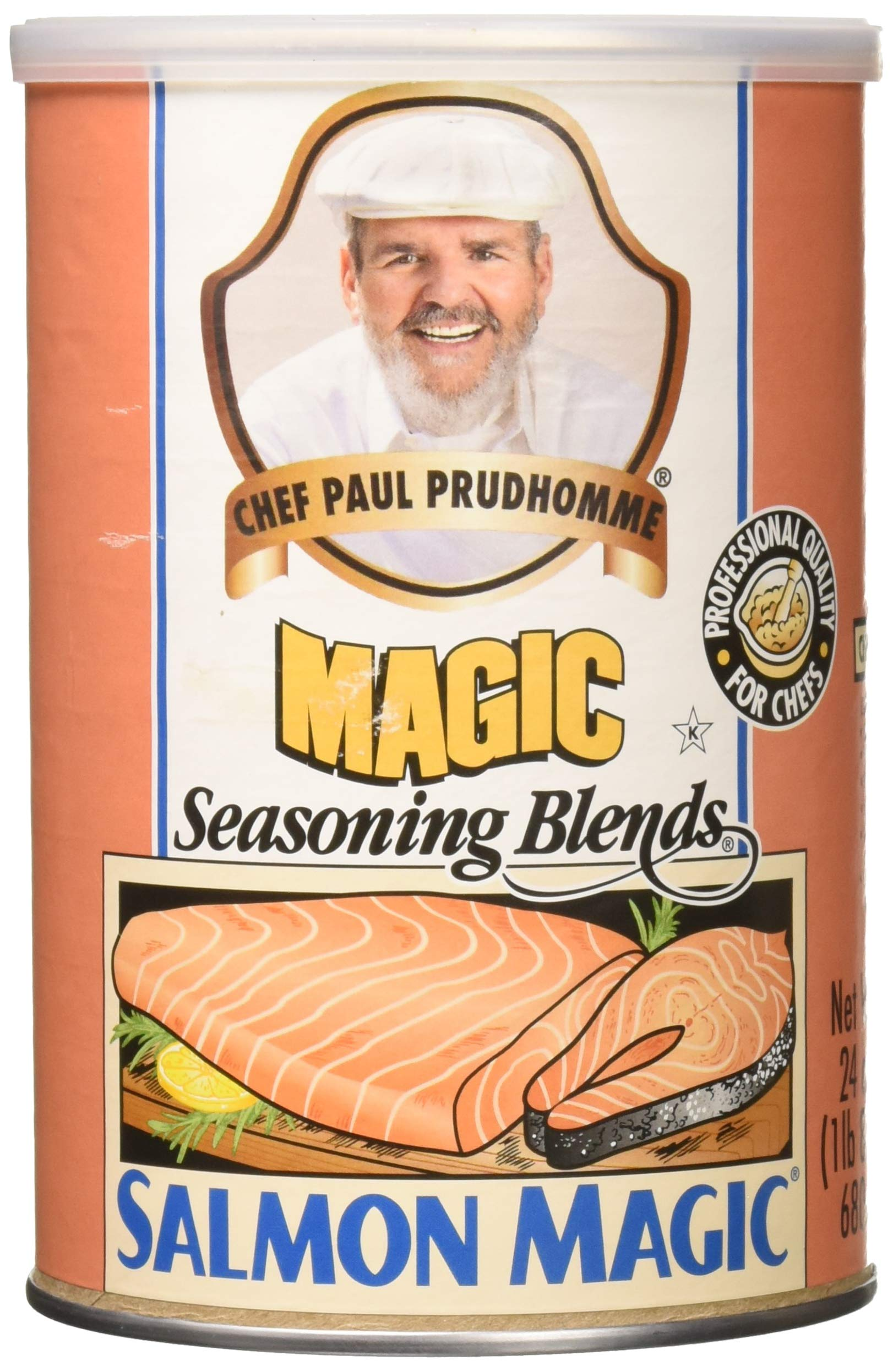 Chef Paul Prudhomme's Magic Seasoning 4 Piece Salmon Magic, 24 Ounce by Chef Paul