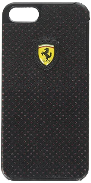 huge selection of 7bd59 d34ca CG Mobile Ferrari Leather Snap-on Case for your iPhone 5/5s (Black & Red)