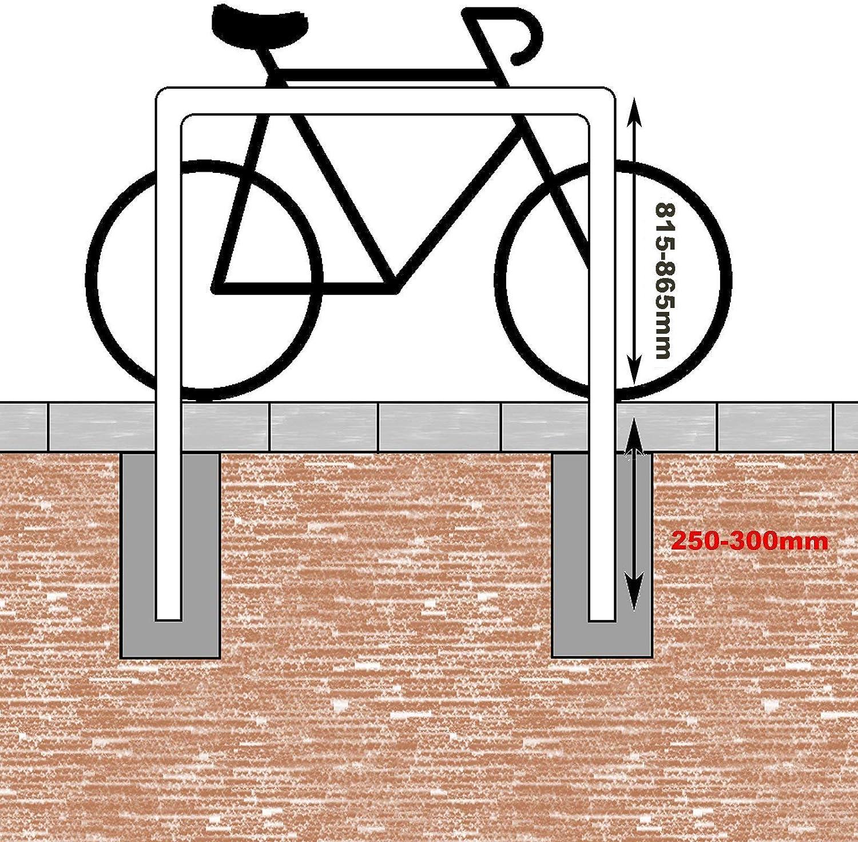 B-Ware Fahrradanlehnb/ügel mit Mittelrahmen zum Einbetonieren Fahrradst/änder Anlehnb/ügel Anlehnst/änder Poller St/änder feuerverzinkt Fahrradst/änder Baumschutzb/ügel Neuware mit Produktionsfehler