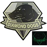 Diamond Dogs Metal Gear Solid Glow Dark Big Boss Snake PVC Gomme 3D Hook&Loop Écusson Patch