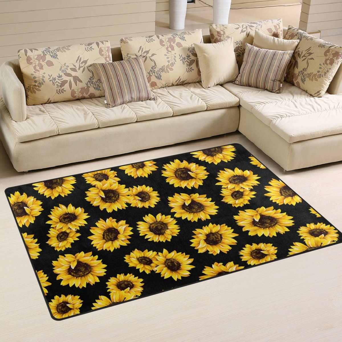 ALAZA Non-Slip Area Rugs Home Decor