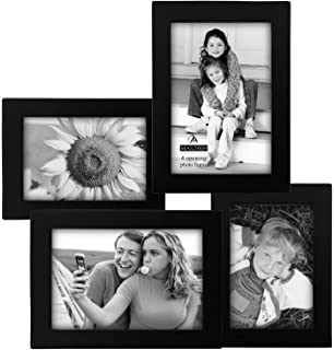 malden concept black wood 4 opening collage frame 2 3 by 5 inch