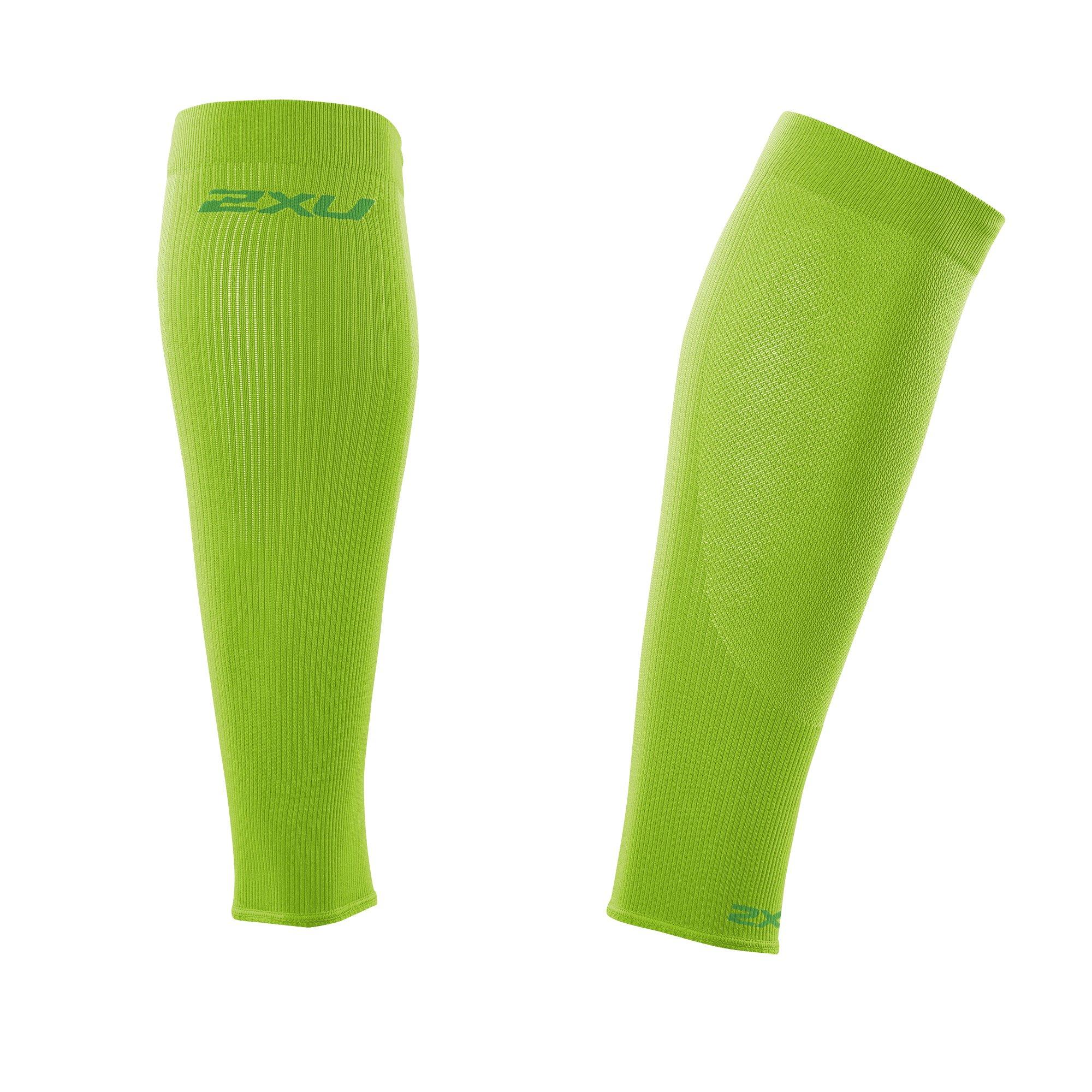 2XU Compression performance Sleeves, Fluro Green/Green, X-Small