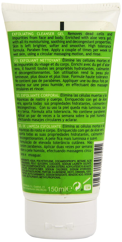 Amazon.com: Naturalia Exfoliating Cleanser Gel Face & Body With Pure Aloe Vera: Beauty