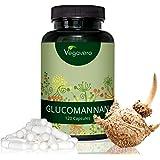 GLUCOMANNANO Radice di Konjac Vegavero | Dimagrante - Riduce la fame - Metabolismo | Estratto titolato al 95% | 500 mg per capsula = 3000 mg al giorno | Senza Magnesio Stearato | 120 capsule | Vegan
