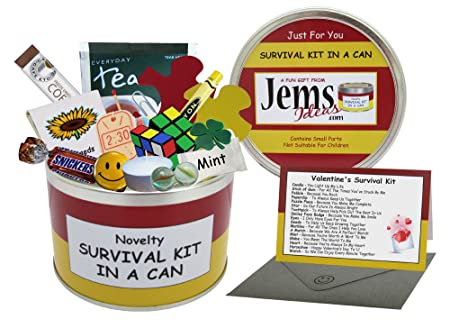 Valentine S Day Survival Kit In A Can Gifts For Her Gifts For Women