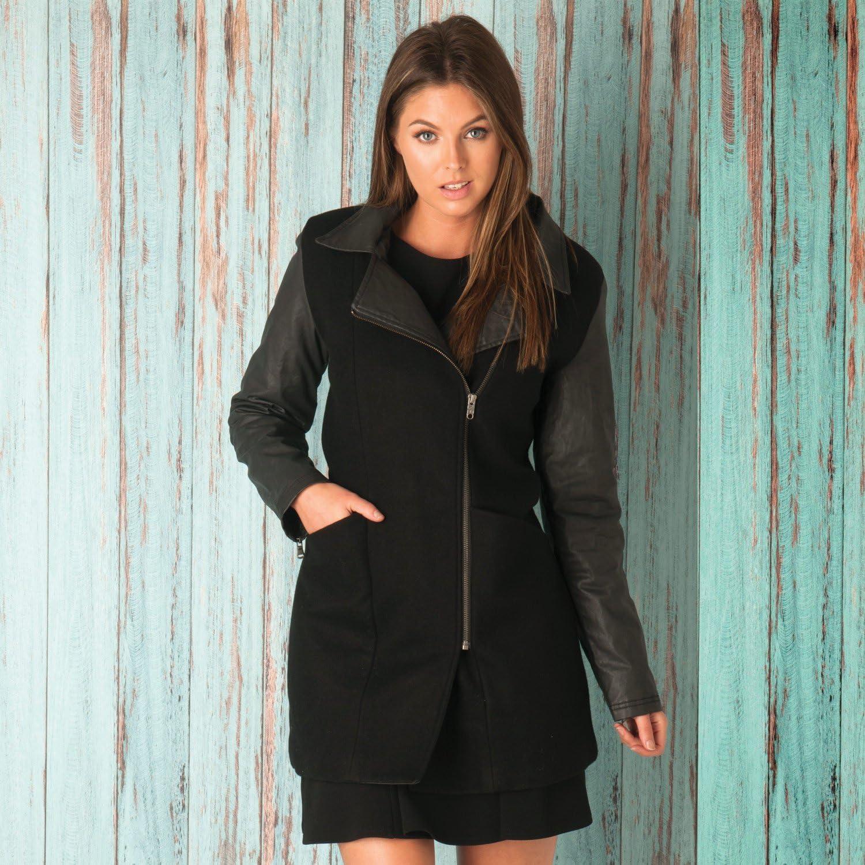 adidas NEO Wool Long Jacket Damen Winter Mantel Jacke Wolle