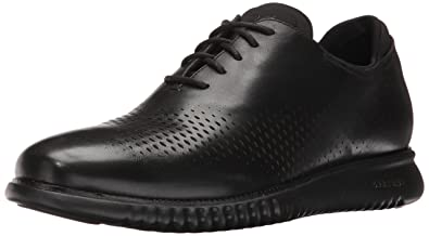 Cole Haan Men's 2.0 Zerogrand Laser Wing Oxford, Black Leather/Black, 7  Medium