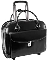 "McKlein USA Granville Leather 15.4"" Wheeled Ladies' Laptop Case"