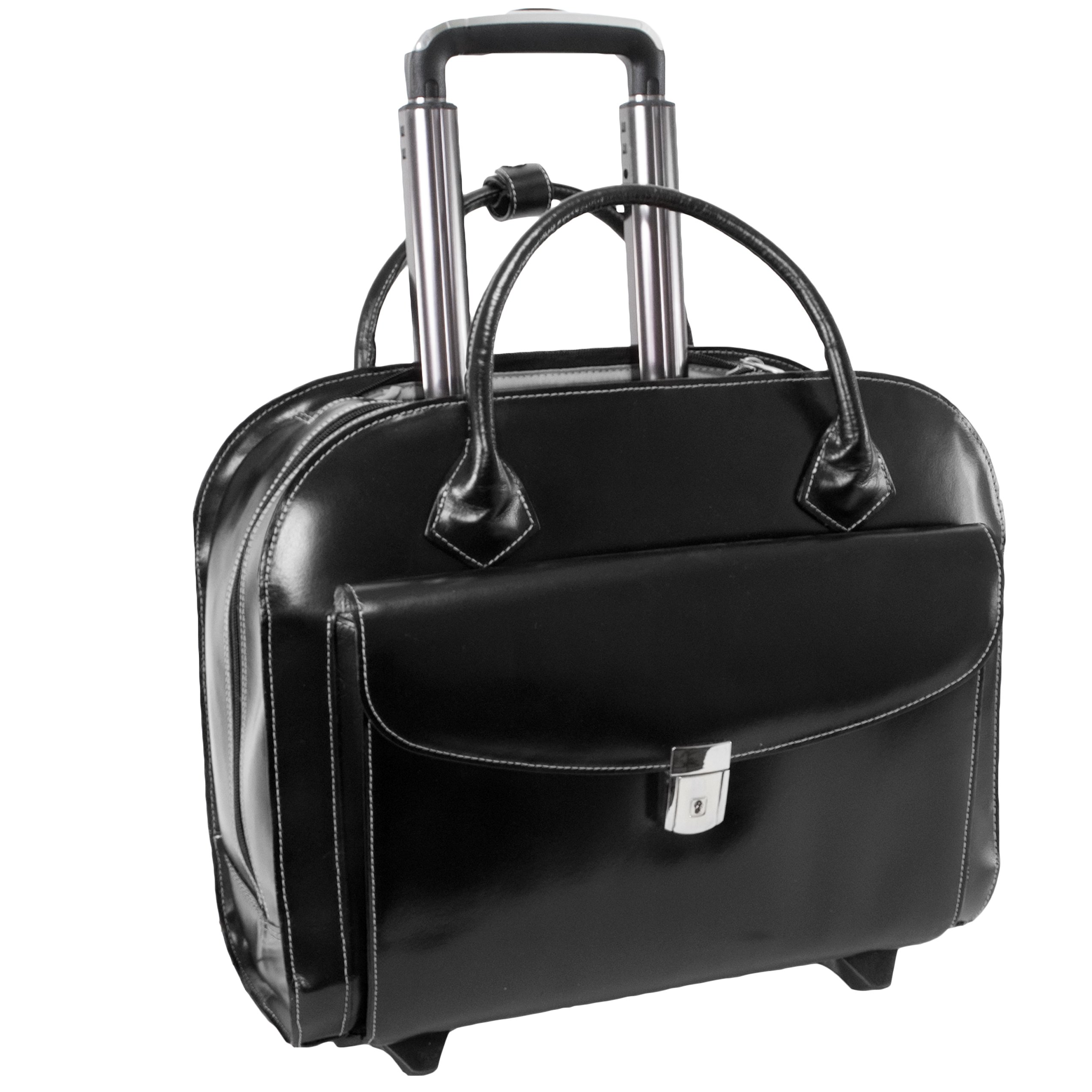 McKleinUSA GRANVILLE 96145A Black Wheeled Ladies' Laptop Case