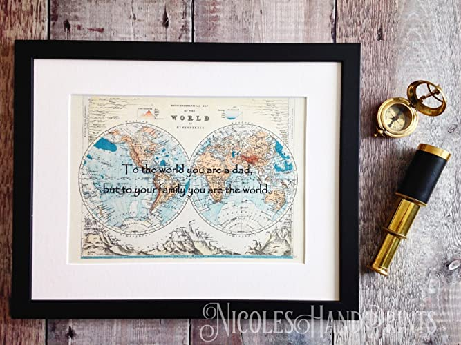 Personalised world map presents for dad birthday gifts for dad personalised world map presents for dad birthday gifts for dad fathers day gifts gumiabroncs Choice Image