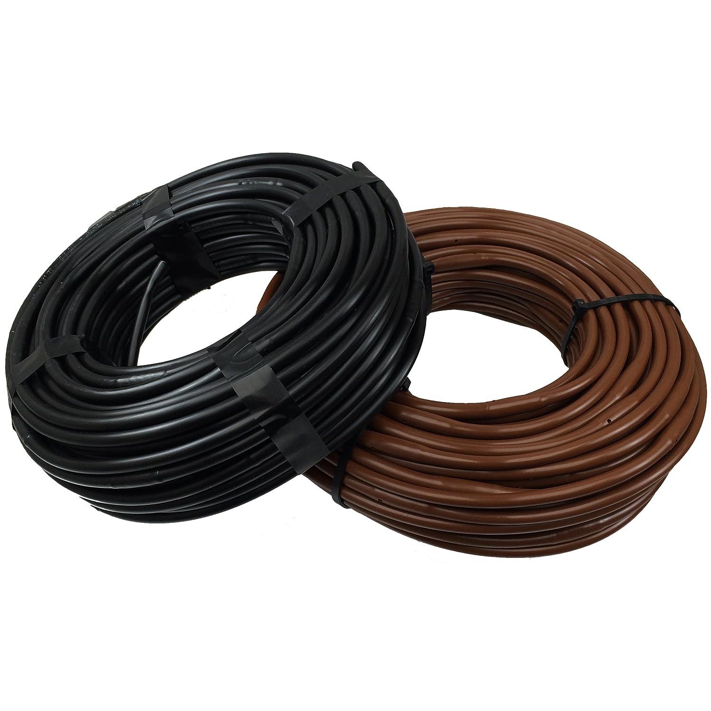 "1/4"" Poly Dripline 12"" Spacing 0.5 GPH 50' Black Drip Tubing"