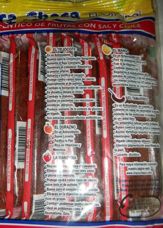 Amazon.com : Chaca-chaca Tamarindo De Frutas Sal Y Chile Tamarind Mexican Candy 10 Pcs : Sour Flavored Candies : Grocery & Gourmet Food